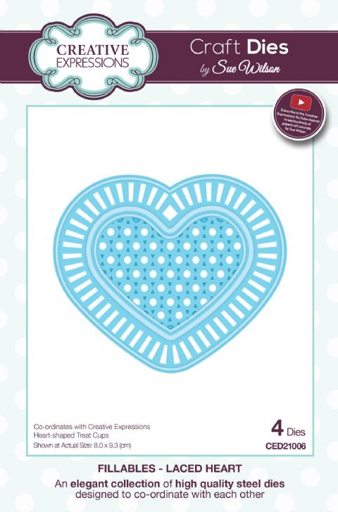 FILLABLES COLLECTION - Laced Heart CED21006